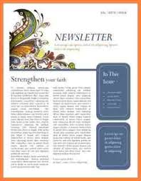 6 simple newsletter template microsoft word newsletter template