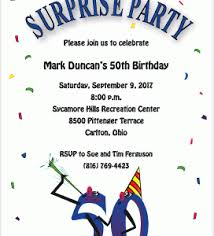 surprise 50th birthday party invitations surprise 50th birthday
