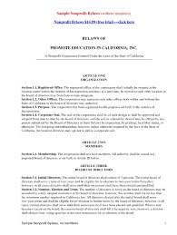 church bylaws template business template