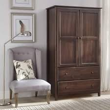Computer Armoire With Pocket Doors Armoires Wardrobe Closets For Less Overstock
