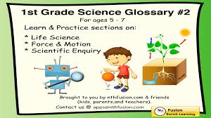 Motion Worksheets 1st Grade Science Glossary Volume 2 App Sample Learn And