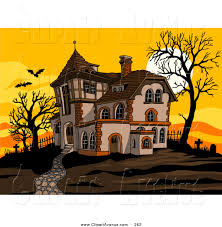 haunted house clipart creepy house pencil and in color haunted