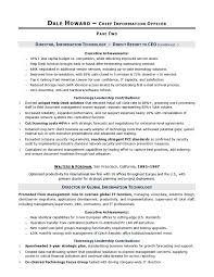 Sample Resume Of Ceo by Cio Sample Resume Chief Information Officer Resume It Resume