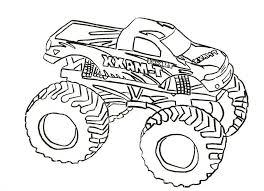 monster trucks coloring free download