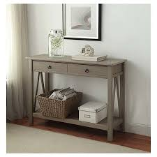 robinwood 3 drawer console table console table grey linon home decor target decorating my world