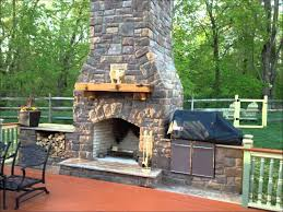 patio build your own outdoor fireplace designs with wooden fence