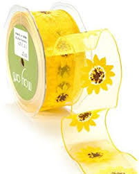 sunflower ribbon offray country sunflower craft ribbon 1 1 2 inch x 9