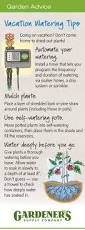 How To Make A Self Watering Planter by Watering Plants While Away Vacation Watering Gardener U0027s Supply