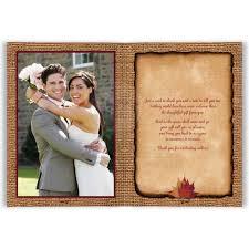 wedding thank you cards photo optional burlap wedding thank you card rustic autumn