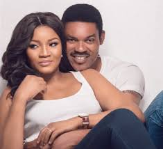 actress omotola jalade u0027s husband reacts to her having