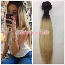 ombre hair weave african american dark root 1b 613 blonde ombre silky straight hair extension