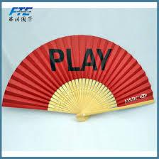held folding fans china custom promotional bamboo held folding fans custom logo