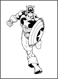 captain america coloring pages etch capt america