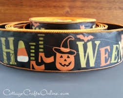 10 yards haunted scene halloween linen wire edge ribbon ribbon