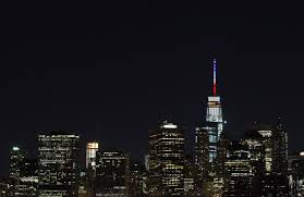 What Does The French Flag Stand For Paris Attacks One World Trade Center Spire In French Colors Time