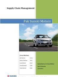 pak suzuki motors supply chain management supply chain