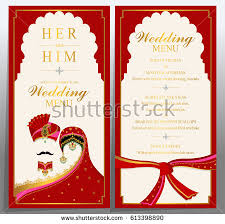 wedding menu card templates gold patterned stock vector 613398890