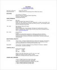 Example One Page Resume 28 Resume In One Page Sample Resume Template References Page