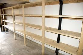 Simple Wooden Shelf Designs by Garage Shelving Plans To Organize Your Garage Stuff Whomestudio
