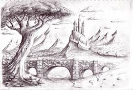 awesome sketches of pencil of nature pencil drawings of natural