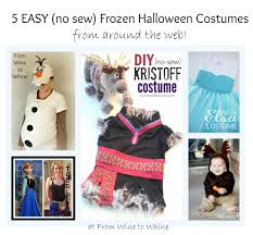 easy costumes 5 easy no sew frozen costumes from wine to whine