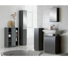 Mirrored Tall Bathroom Cabinet - buy hygena gloss mirrored tall bathroom storage cabinet grey at