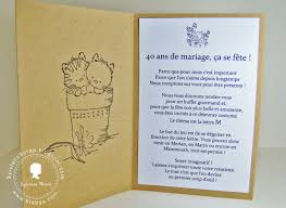 40 ans de mariage sylviane scrap carte 40 ans mariage