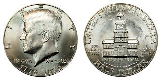 1776 to 1976 quarter dollar 1976 d kennedy half dollars bicentennial design value and prices