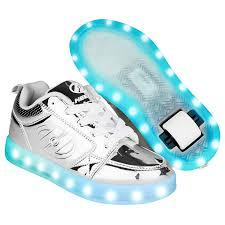 heelys light up shoes heelys premium 1 lo light up silver chrome heelys shoes heelys