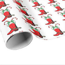 cowboy wrapping paper western christmas gift wrapping design