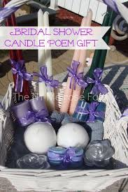 bridal shower gift baskets bridal shower gift candle poem basket the family