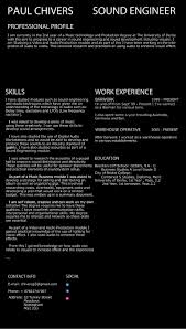 Sound Engineer Resume Sample by Jerry Velazquez Audio Engineer Resume