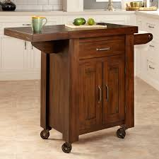 dark brown wood kitchen islands with drop leaf and fold up top