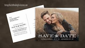 wedding save the date postcards save the date cards vintage rustic wedding invitations