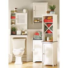 bathroom white towel cabinet free standing linen cabinets