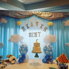 fabric draping backdrop baby shower leather bench and chair