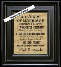 40 year anniversary gift ideas 40th anniversary 40 years married anniversary gift gifts wood