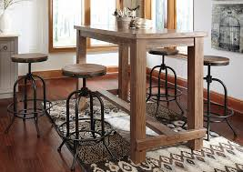 Sofa Bar Table Hornell Furniture Outlet Pinnadel Bar Table W 4 Swivel Stools