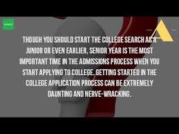 where do i start applying for college youtube