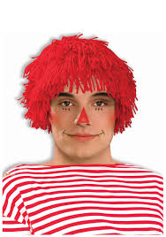 Raggedy Ann Costume Rag Doll Boy Wig Raggedy Andy Costume Accessory