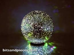 mercury glass ball lights color changing mercury glass ball 42549 youtube