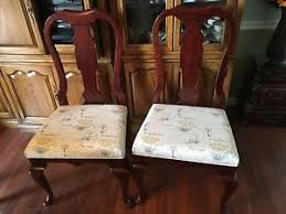 Custom Upholstered Dining Chairs Set Of 6 New Pennsylvania House Queen Anne Dining Chairs W Custom