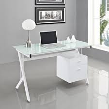 Office Depot Glass Computer Desk by Office Glass Desk Office Small Glass Top Computer Desk With File