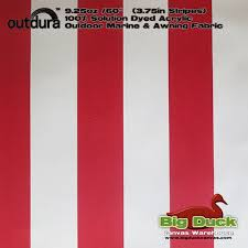 Red And White Striped Awning Waterproof Canvas Fabric Water Repellent Tarp Fabric Wholesale
