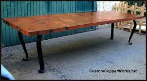wrought iron dining table glass top wrought iron base dining table large copper top dining table copper