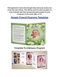 Funeral Programs Samples Zachary Douglass Llc Funeral Programs Templates