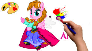 mlp princess anna my little pony coloring book cartoon