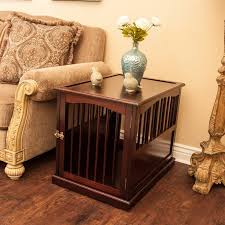 dog kennel side table dog crate furniture end tables you ll love wayfair
