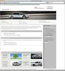 audi finance login audi financial services ownership experience payments
