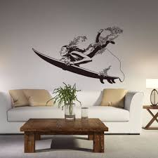 beauty surfing wall stickers bedroom living room wall stickers